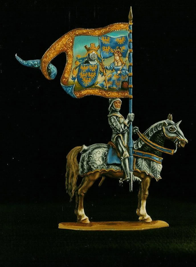 Mounted horse