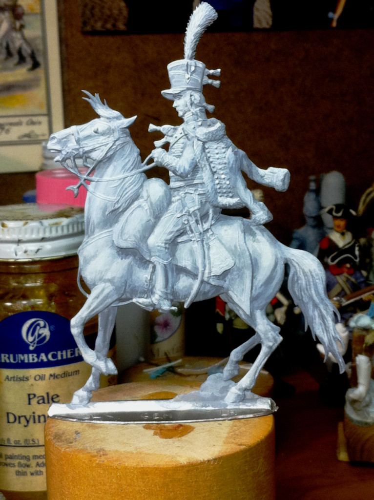 figure 9 Hussar painted in grey tones r